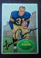 Fred Cone Dallas Cowboys 1960 Topps #34 Signed Card Authentic Autograph