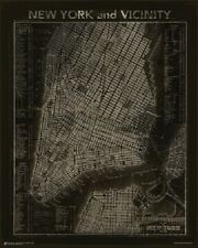VINTAGE NYC MAP OF NEW YORK CITY POSTER (61x75cm)  PICTURE PRINT NEW ART