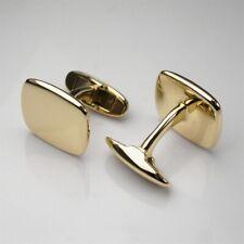 Karat Yellow Gold Men's Office Cufflinks Beautiful Simple Cushion Shape Pure 10
