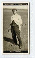 (Gt800-432) SCARCE, Churchman, Famous Golfers, #37, Ben Sayers 1927 EX