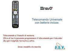 TELECOMANDO UNIVERSALE PER DIGITALE TERRESTRE TV SKY 3 APPARECCHI BRAVO OKEY3