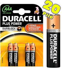BATTERIE DURACELL MINISTILO AAA PLUS PILE ALCALINE 20 Batterie