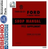 OEM Digital Repair Maintenance Shop Manual CD Ford Truck All Models 1949-1952