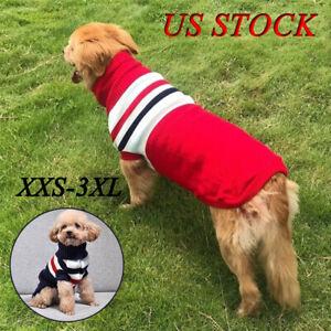 Winter Big Dog Sweater Warm Small Dogs Coat 4 Color Dogs Indoor/Outdoor Coat US
