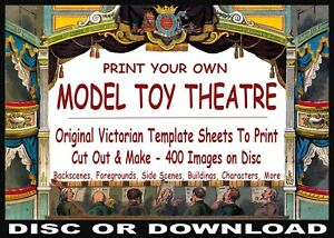 Make-Your-Own VINTAGE PAPER MODEL TOY THEATRE Hundreds of Sheet Images To Print!