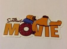 Pegatina/sticker/autocollant/ GLOSSY: The Simpsons The Movie/ Donut/ Homer