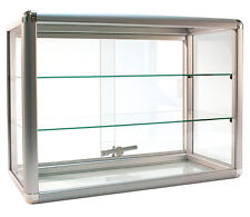 "Countertop Glass Showcase Retail Store Merchandise Display 24""Wx12""Dx18""H New"