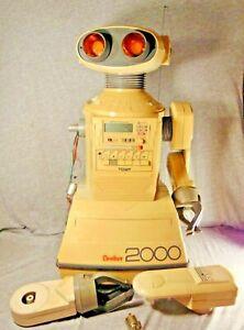 Vintage Tomy Omnibot 2000 Large Toy Electronic Robot C. 1984 P/R