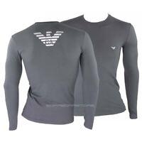 Emporio Armani T-shirt uomo manica lunga mod.111023 9a725 colore grigio