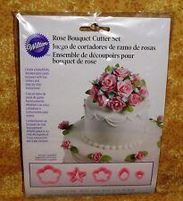 Rose bouquets Flower Cutter Set,Wilton,Pink,Plastic/Book,1907-1003,Stepsaving
