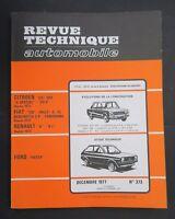 REVUE TECHNIQUE AUTOMOBILE RTA FORD FIESTA CITROEN GS FIAT 128 R8 n°373