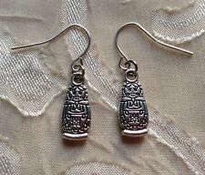 NEW Silver Russian Nesting Doll Earrings Trendy Fashion Jewelry Hippie Unique