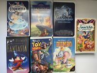 VHS Tapes Movies Snow White, Lion King, Cinderella & More! Lot Of 7