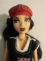 Barbie Doll My Scene Chelsea Brown Hair Brown Eyes Purple Lips Clothes Hat 1999
