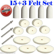 """15+3 Felt Polishing Wheel  for Dremel 414  422 429 Rotary Tool Mandrel 401 1/8"""""""
