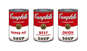 Soup Can Series 1b by Andy Warhol A2 High Quality Canvas Art Print