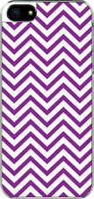iPhone 5 Purple Chevron Designed Sticker on Hard Case Cover