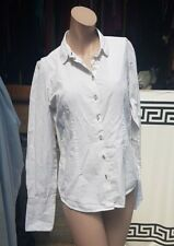 Haines & Bonner Mujer Damas Camisa/Blusa Talla 12 Reino Unido 100% Algodón Blanco Smart