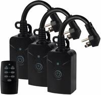 Outdoor Indoor Wireless Remote Control Outlet 1 Remote 3 Outlets