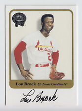 2001 Fleer Greats Of The Game Lou Brock On Card Auto SP /500 #14