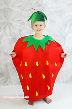 Halloween Party Red Strawberry One Piece Kids Unisex Whole Costume Outfit