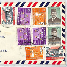 XX359 1979 INDONESIA *Bandung* IMPRESSIVE FRANKING Commercial Airmail Cover