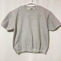 Vintage 1990s Lee Sport Short Sleeve Gray Sweatshirt Size L Large
