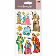 Sticko Stickers NATIVITY Lot of 6 Packs 52-00705