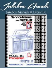 New! Rock Ola 452 Service & Parts Manual with Deluxe Troubleshooting Guide