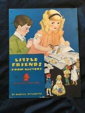 RARE VINTAGE 1936 Little Friends From History Paper Dolls, UNCUT