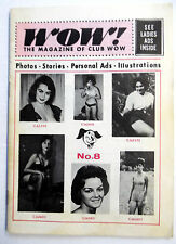WOW! Magazine No. 8 '65 Sexy ADULT Lonely LADIES & Men PERSONALS Pics PHIOTOS ak