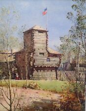 Noel  H. Lever Original Artwork Fort Dearborn