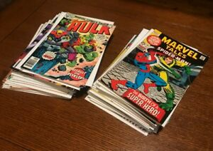 BIG Lot of 34 Old MARVEL Comics HULK and MARVEL TALES various grades   .99 Cents