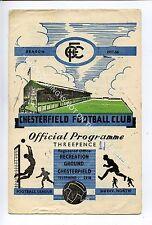 (Ga4873-469) CHESTERFIELD vs Hull City 1957-58 G-VG