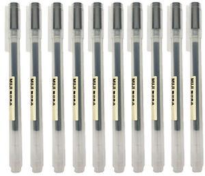 MUJI Gel Ink Ball Point Pen 0.38mm Black *10