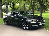 2016 BMW 2 SERIES 218i F22 PETROL LOW MILES MANUAL SAT NAV BLUETOOTH COUPE PX