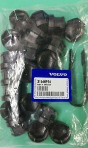 Genuine Volvo wheel nut covers XC90, V90, S90 XC60, DARK GREY, 31660916