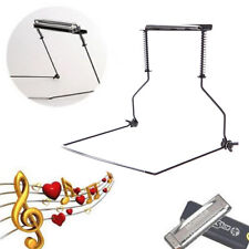 10 trous métalliques Harmonica Neck Holder Support Pour Harp Stand Rack noir