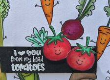 Veggie Handmade Greeting Card, love, food, birthday, thinking of you, friendship