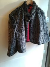 Material Girl Bolero Cheetah Jaguar Faux Fur Women Jacket Size Large Fashion