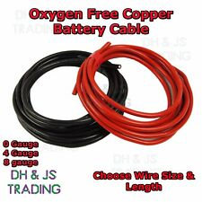 0 4 8 Gauge Battery Earth Power Cable 0AWG 4AWG 8AWG Oxygen Free Copper OFC Wire