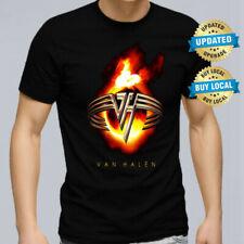 Van Halen Logo Men T Shirt Retro Rock Band Tee XS-5XL