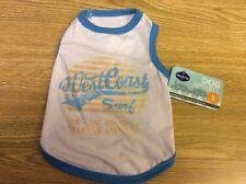"Blueberry Pet Cotton Dog Shirt Tee West Coast Surf Size Small 10"" Back Length"