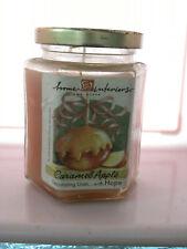 Vintage Home Interiors 7.5oz Candle Jar- CARAMEL APPLE-NEW-Retired-EB94
