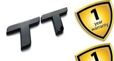 """Audi """"TT"""" S line TT RS Quattro Gloss Black Boot Badge Lettering Letters Emblem"""