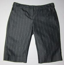 EXPRESS DESIGN STUDIO Shorts Size 2 Black STRIPED Editor Walking Bermuda