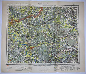 Wesel German Empire Original Antique Lithograph Map 1903 Royal Prussian