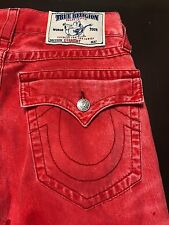 TRUE RELIGION RED MENS JEANS SZ 29