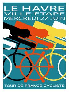 Le Havre Tour de France Fine Art Bicycle Poster Cycling