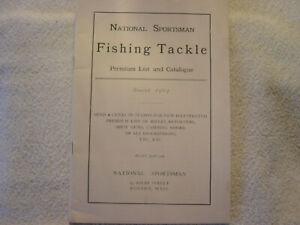 FISHING TACKLE CATALOGUE NATIONAL SPORTSMAN BOSTON 1904 sale catalog